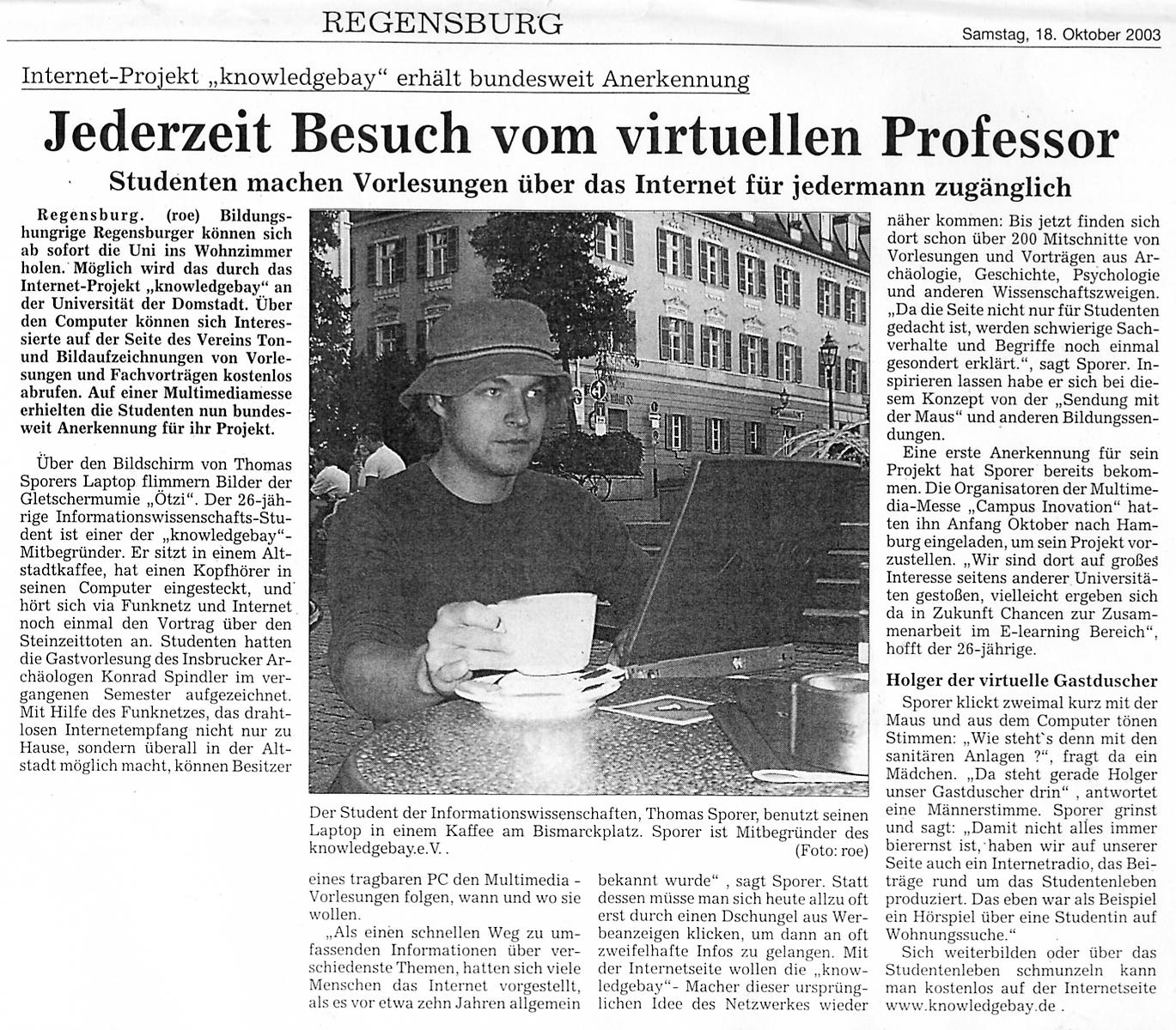 Artikel in der Donaupost